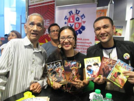 Tatay Romy braved to witness the Araw ng MA-I by himself! And guess what? He's made action figures of MA-I Characters evern before the books went public! He's our editor's dad and he too became a fan. Aba ageless pala ang pwedeng abutin ng MA-I! (c) Joy Solina